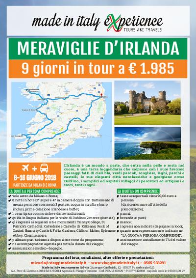 Tour in Irlanda - locandina